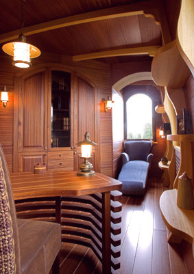 Yacht Interior Mahogany Furniture Design